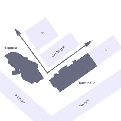Paris Beauvais airport terminals map